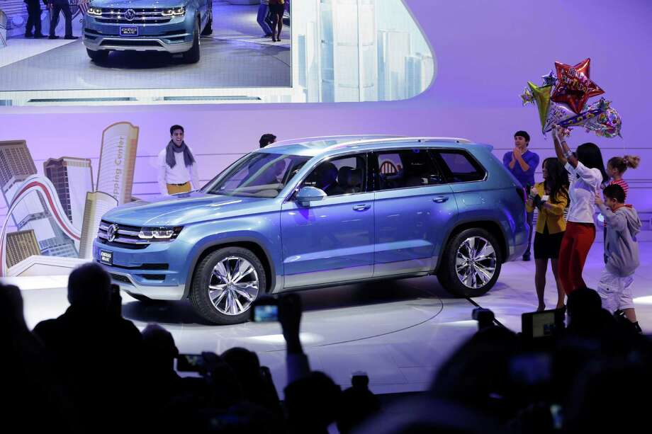 The Volkswagen CrossBlue SUV is unveiled during the North American International Auto Show in Detroit, Monday, Jan. 14, 2013. (AP Photo/Carlos Osorio) Photo: Carlos Osorio, Associated Press / AP