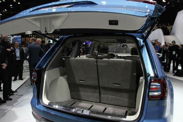 The spacious interior in the Volkswagen CrossBlue mid-size SUV concept, a six-seater with an innovative diesel electric plug-in hybrid powertrain is featured at the 2013 North American International Auto Show at Cobo Center on Monday, January 14, 2013. (Jessica J. Trevino/Detroit Free Press/MCT) Photo: JESSICA J. TREVINO, McClatchy-Tribune News Service / Detroit Free Press