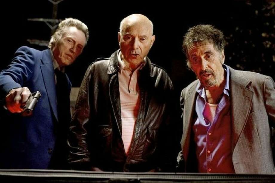"Christopher Walken (left), Alan Arkin and Al Pacino share a wild night in ""Stand Up Guys."" Photo: LIonsgate"
