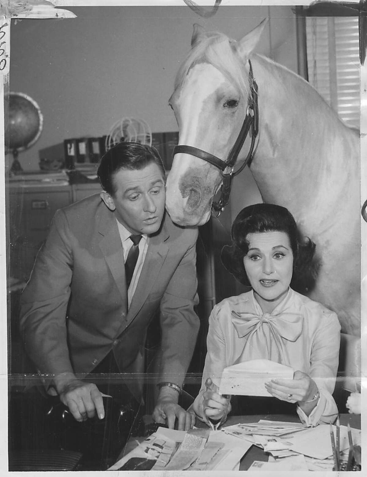 Abby did a guest appearance on television show, Mr. Ed Pauline Phillips .. aka Abigail Van Buren aka Dear Abby TV still. Photo was taken: 10/16/1964.