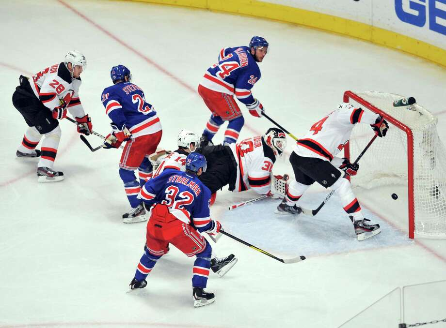 Under new guidelines, the Capital Region will not be blacked out of any New York Rangers game in this lockout-shortened NHL season. (Jason Szenes/The New York Times) Photo: JASON SZENES / NYTNS