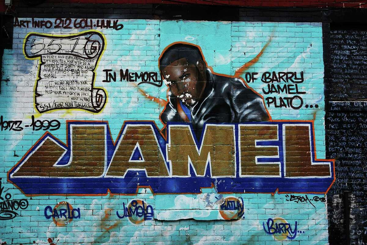 NEW YORK, NY - JANUARY 17: A graffiti memorial adorns a wall in memory of a man in the Bedford-Stuyvesant neighborhood on January 17, 2013 in the Brooklyn borough of New York City. Visual memorials honoring residents who in many cases met violent ends decorate many Brooklyn neighborhoods. New York Governor Andrew Cuomo recently signed into law the New York Secure Ammunition and Firearms Enforcement Act, one of the toughest gun laws in the country. (Photo by Spencer Platt/Getty Images)