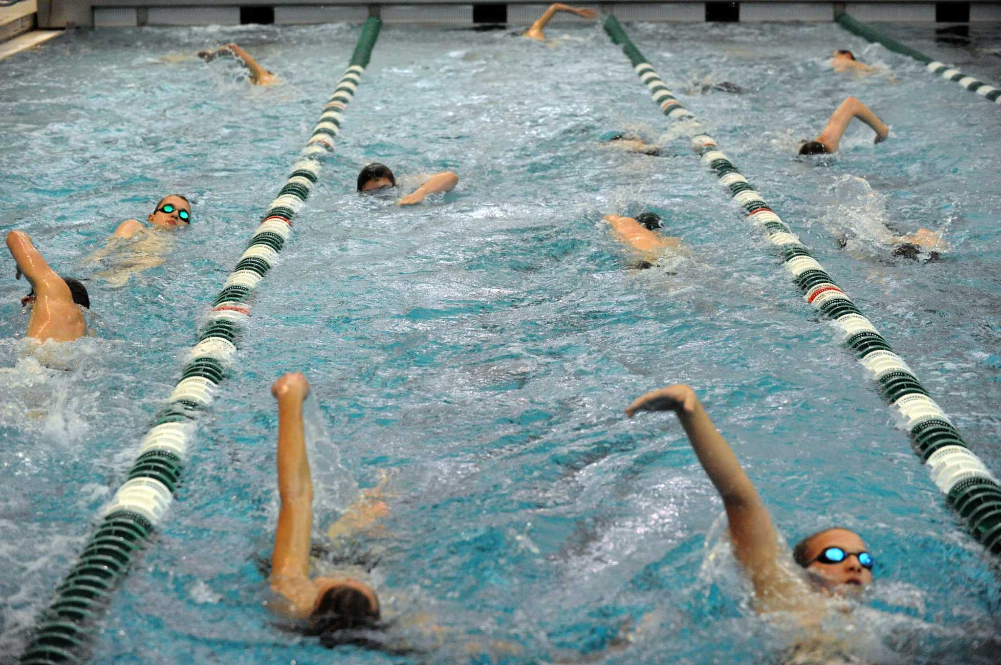 Shen swimmers still unbeaten times union Clifton high school swimming pool