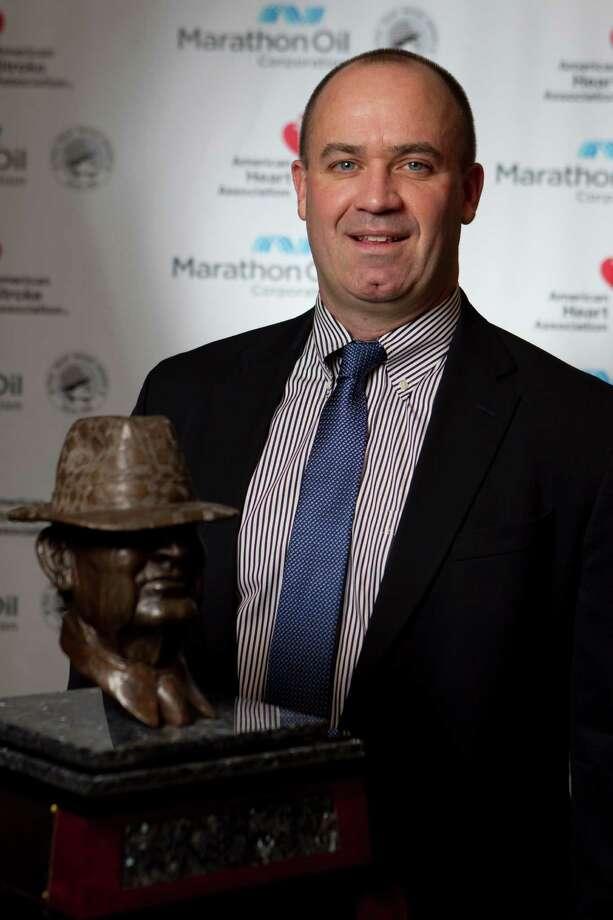 Penn State head coach Bill O' Brien won the 2013 Marathon Oil Corporation Paul 'Bear' Bryant Award. (Nick de la Torre/Houston Chronicle) Photo: Nick De La Torre, Houston Chronicle / © 2013  Houston Chronicle