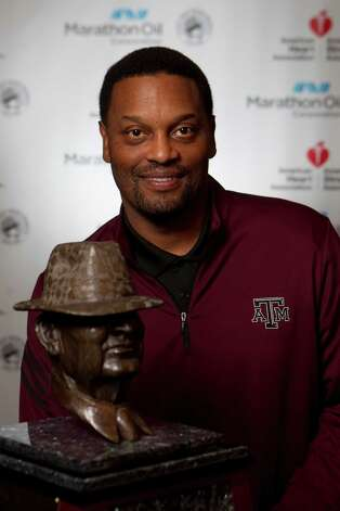 Texas A&M head coach Kevin Sumlin is a candidate for the 2013 Marathon Oil Corporation Paul 'Bear' Bryant Award, Thursday, Jan. 17, in Houston. Photo: Nick De La Torre, Houston Chronicle / © 2013  Houston Chronicle