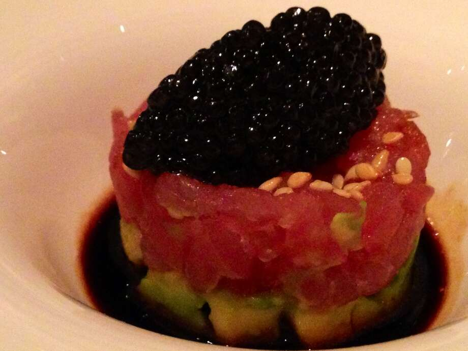 Tuna tartare with caviar at Masa's