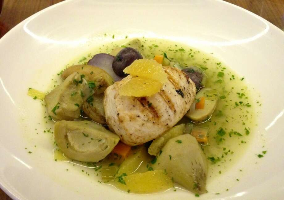 Swordfish with artichokes at Claudine