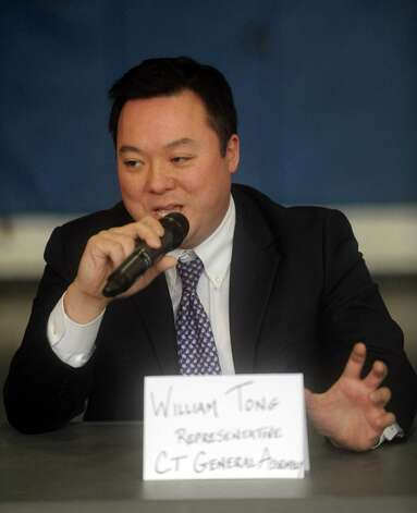 State Rep. William Tong speaks during a roundtable discussion about curbing gun violence at the Yerwood Community Center in Stamford on Thursday, January 17, 2013. Photo: Lindsay Perry / Stamford Advocate