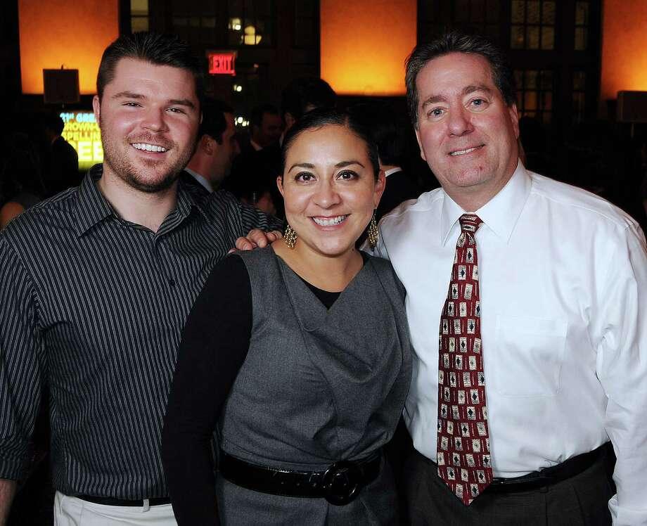 John Michael Novinski, Kathleen Martinez and Bill Gerwing. from left.  Photo: Dave Rossman, For The Houston Chronicle / © 2012 Dave Rossman