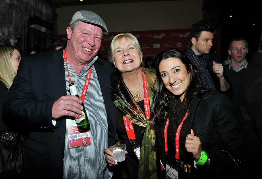 Producers Brian Quattrini and Anne O'Shea and Dani Cordaro attend the Day One Party during the 2013 Sundance Film Festival at Legacy Lodge on Thursday.  (Photo by Sonia Recchia/Getty Images) Photo: Sonia Recchia, Ap/getty / 2013 Sonia Recchia