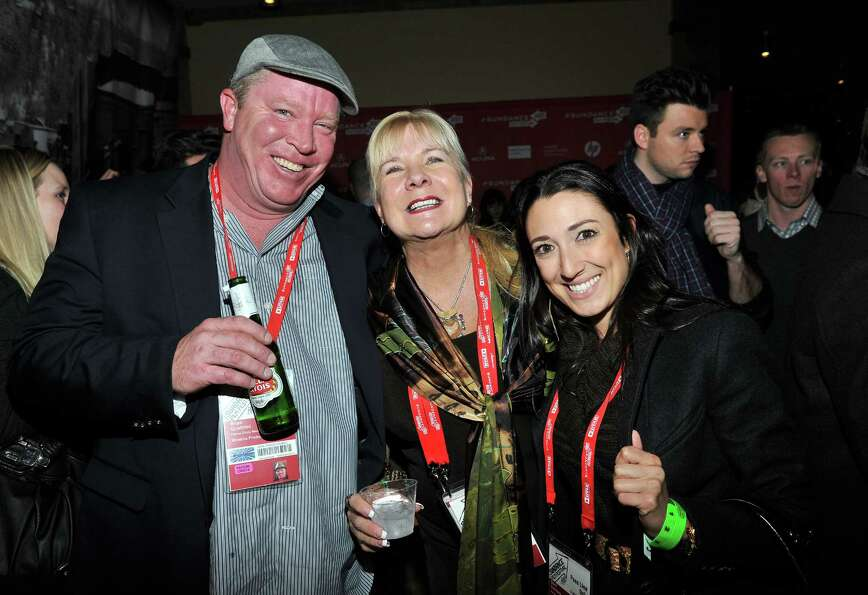 Producers Brian Quattrini and Anne O'Shea and Dani Cordaro attend the Day One Party during the 2013