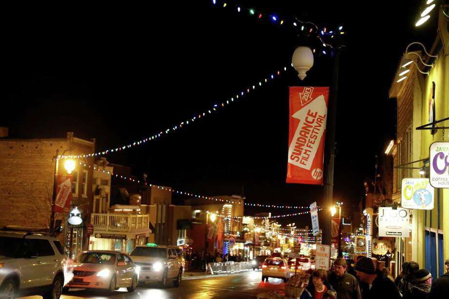 Main Street is seen at night during the 2013 Sundance Film Festival on Thursday. (Photo by Danny Moloshok/Invision/AP) Photo: Ap/getty
