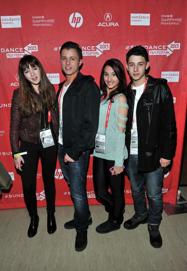 Filmmakers Gina Piersanti, Andrew McCord, Giovanna Salmeni and Jesse Cordasso attend the Day One Party during the 2013 Sundance Film Festival at Legacy Lodge on Thursday.  (Photo by Sonia Recchia/Getty Images) Photo: Sonia Recchia, Ap/getty / 2013 Sonia Recchia