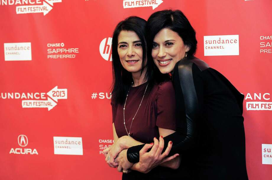 "Cherien Dabis, right, writer, director and star of ""May in the Summer,"" poses with cast member Hiam Abbass at the premiere of the film on the opening night of the 2013 Sundance Film Festival on Thursday. (Photo by Chris Pizzello/Invision/AP) Photo: Ap/getty"