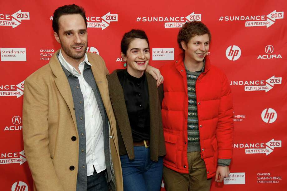 "Director Sebastian Silva, left, actress Gaby Hoffmann, center, and actor Michael Cera, right, pose at the premiere of ""Crystal Fairy"" during the 2013 Sundance Film Festival on Thursday. (Photo by Danny Moloshok/Invision/AP) Photo: Ap/getty"