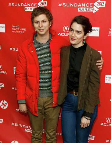 "Cast members Michael Cera, left, and Gaby Hoffmann, right, pose at the premiere of ""Crystal Fairy"" during the 2013 Sundance Film Festival on Thursday . (Photo by Danny Moloshok/Invision/AP) Photo: Ap/getty"