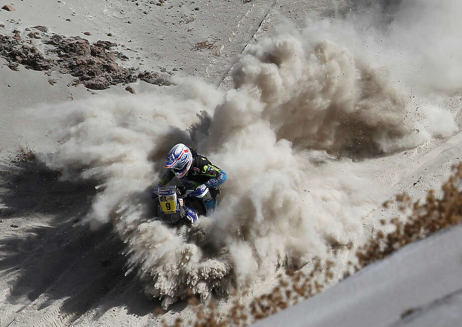 France's Olivier Pain competes during Stage 5 of the Dakar Rally 2013 between Arequipa and Arica, Chile, on January 9, 2013. The rally will take place in Peru, Argentina and Chile from January 5 to 20. Photo: POOL, AFP/Getty Images / 2013 AFP