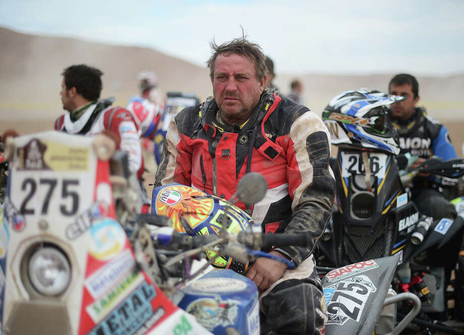 Jean Karl Atzert of Team Al Desert waits to start stage 6 from Arica to Calama during the 2013 Dakar Rally on January 10, 2013 in Arica, Chile. Photo: Shaun Botterill, Getty Images / 2013 Getty Images