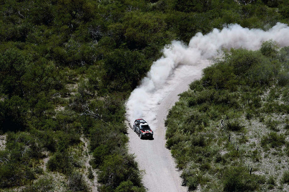 BMW's Orlando Terranova of Agrentina competes during the Stage 10 of the Dakar 2013 between Cordoba and La Rioja, Argentina, on January 15, 2013. The rally takes place in Peru, Argentina and Chile between January 5 and 20. Photo: FRANCK FIFE, AFP/Getty Images / 2013 AFP