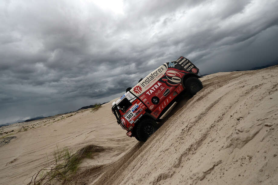 Czech Ales Loprais competes on his Tatra during the Stage 11 of the Dakar 2013 between La Rioja and Fiambala, Argentina, on January 16, 2013. The rally takes place in Peru, Argentina and Chile between January 5 and 20. Photo: FRANCK FIFE, AFP/Getty Images / 2013 AFP