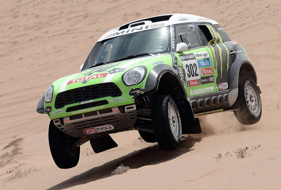 Mini's driver Stephane Perterhansel of France competes during the Stage 12 of the 2013 Dakar Rally between Fiambala in Argentina and Copiapo in Chile, on January 17, 2013. The rally is taking place in Peru, Argentina and Chile from January 5 to 20. Photo: FRANCK FIFE, AFP/Getty Images / 2013 AFP