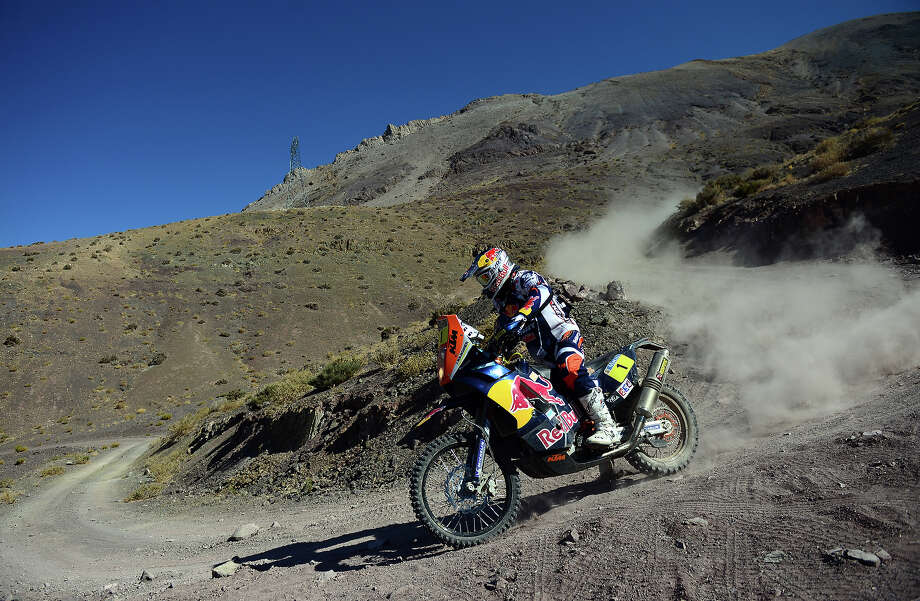 KTM's rider Cyril Despres of France competes during the Stage 12 of the Dakar 2013 between Fiambala, Argentina and Copiapo, Chile, on January 17, 2013. The rally takes place in Peru, Argentina and Chile between January 5 and 20. Photo: FRANCK FIFE, AFP/Getty Images / 2013 AFP