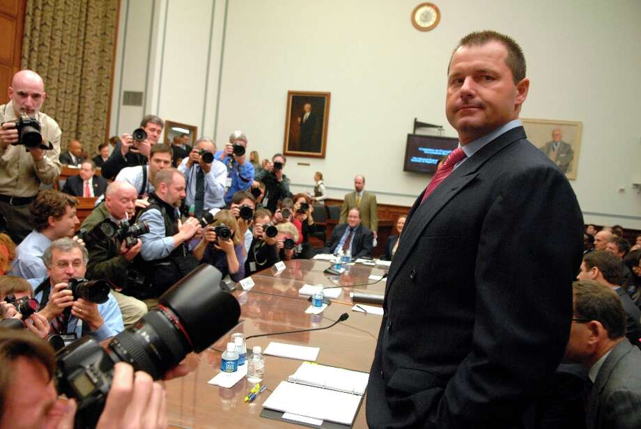 2008 | The baseball doping scandal intensifiesAfter Jose Canseco's book ''Juiced'' and the MLB's own Mitchell Report accused dozens of pro baseball players of using performance-enhancing drugs, pitching legend Roger Clemens (pictured) testified before Congress in a wide-reaching probe of the sport. Clemens wasn't alone among the accused, but he became the poster boy for the steroids scandal. In 2012, after one mistrial, he was found not guilty of perjury after a grand jury accused him of lying to Congress. Photo: Tom Williams, Roll Call/Getty Images / CQ-Roll Call Group