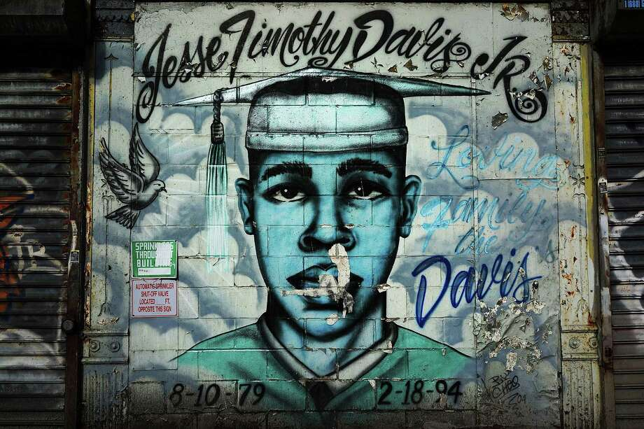 NEW YORK, NY - JANUARY 17:  A graffiti memorial is viewed on a wall in memory of a young man in the Bedford-Stuyvesant neighborhood on January 17, 2013 in the Brooklyn borough of New York City. Visual memorials honoring residents who in many cases met violent ends decorate many Brooklyn neighborhoods. New York Governor Andrew Cuomo recently signed into law the New York Secure Ammunition and Firearms Enforcement Act, one of the toughest gun laws in the country. Photo: Spencer Platt, Getty Images / 2013 Getty Images