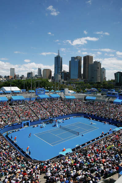 A general view of Margaret Court Arena during day one of the 2013 Australian Open at Melbourne Park