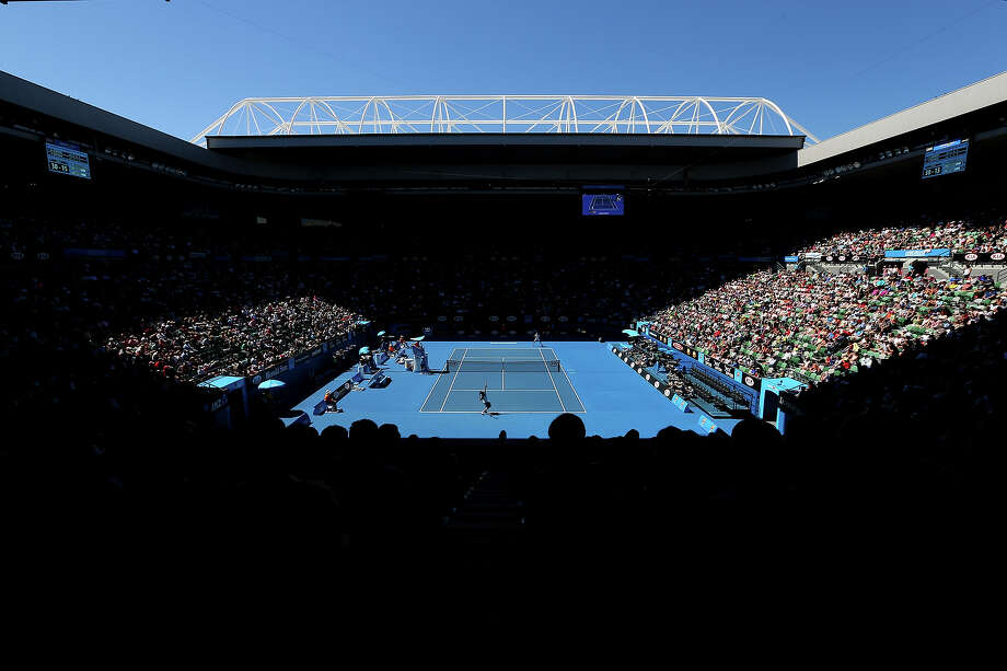 A general view of Rod Laver Arena during day one of the 2013 Australian Open at Melbourne Park on January 14, 2013 in Melbourne, Australia. Photo: Michael Dodge, Getty Images / 2013 Getty Images