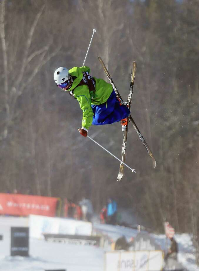 LAKE PLACID, NY - JANUARY 17: Tatsuki Kobayashi of Japan competes in the USANA Freestyle World Cup Moguls competition at Whiteface Mountain on January 17, 2013 in Lake Placid, New York. Photo: Bruce Bennett, Getty Images / 2013 Getty Images
