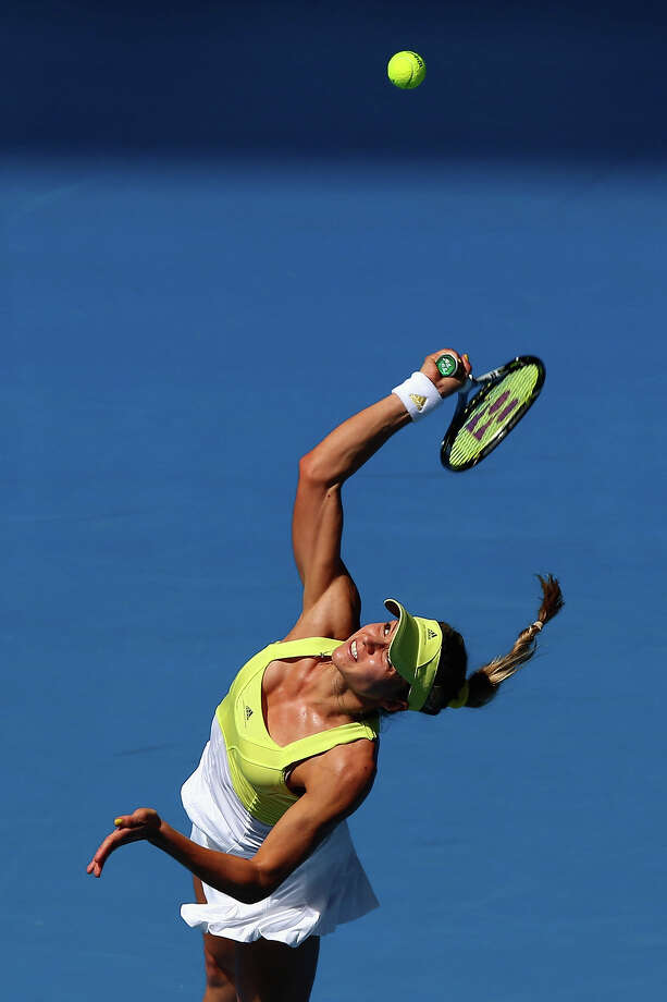 Maria Kirilenko of Russia serves in her second round match against Shuai Peng of China during day four of the 2013 Australian Open at Melbourne Park on January 17, 2013 in Melbourne, Australia. Photo: Ryan Pierse, Getty Images / 2013 Getty Images