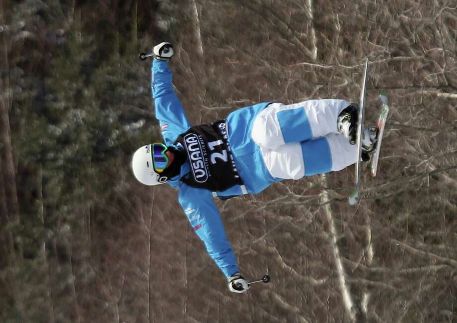 LAKE PLACID, NY - JANUARY 17: Albert Bedouet #21 of France competes in the USANA Freestyle World Cup Moguls competition at Whiteface Mountain on January 17, 2013 in Lake Placid, New York. Photo: Bruce Bennett, Getty Images / 2013 Getty Images