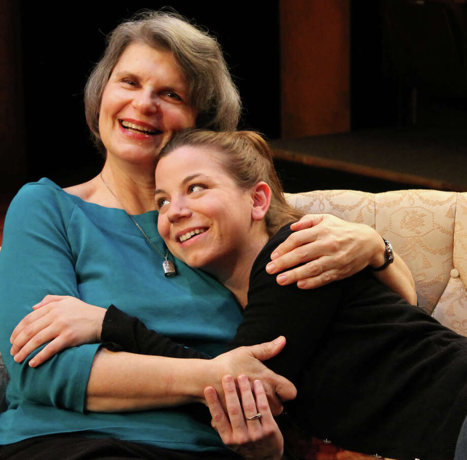 Main Street Theater presents the regional premiere Memory House by Kathleen Tolan.  At MST   Rice Village, 2540 Times Blvd., Jan. 17   Feb. 10, 2013.    Pictured are Maggie (Rebecca Greene Udden) and her daughter Katia (Joanna Hubbard). Photo: Kaitlyn Walker