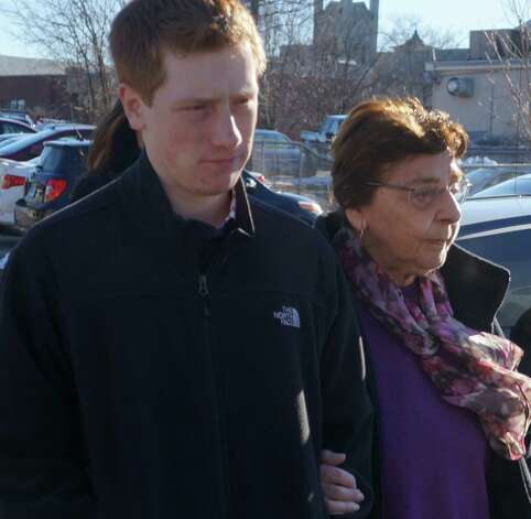 Estelle Margolis pleaded not guilty Friday in Norwalk Superior Court to a breach-of-peace charge filed against her after she brought a BB rifle and ammunition to a recent Representative Town Meeting.  WESTPORT NEWS, CT 1/18/13 Photo: Paul Schott / Westport News