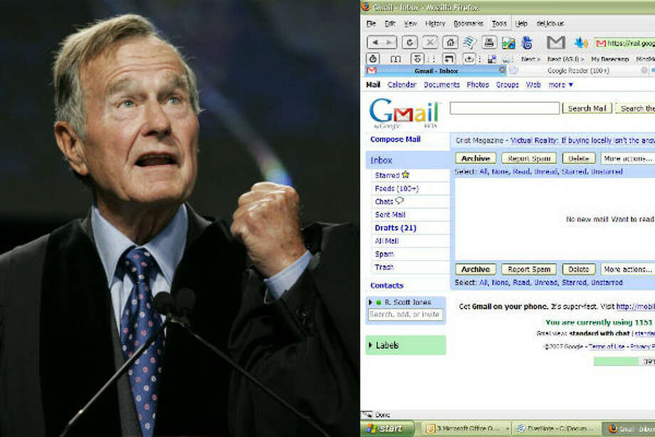 George H.W. Bush – E-mail made its way to the White House in 1992 under George Bush's administration, but the technology was not heavily used.   