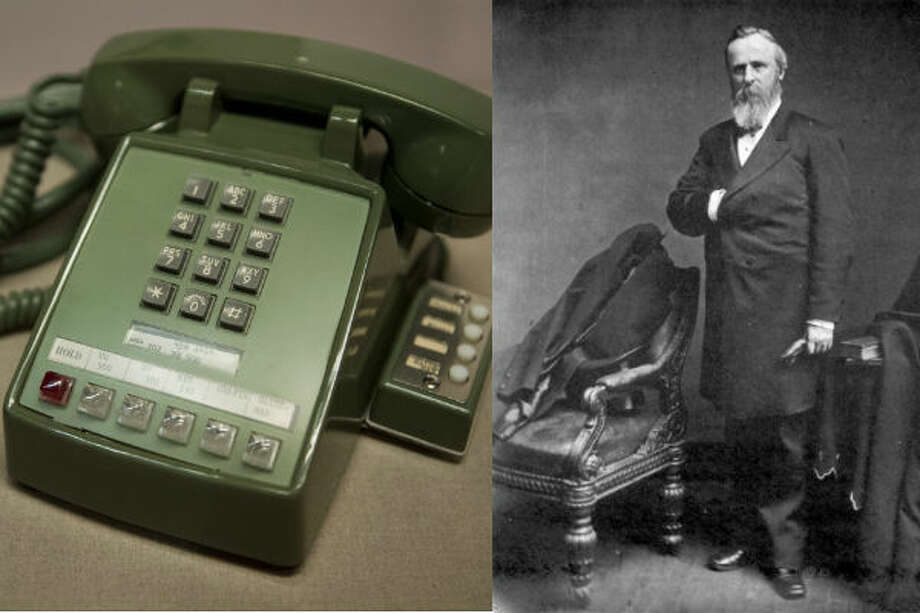 """Rutherford B. Hayes – Hayes was the first president to have access to a telephone in the White House. The phone was installed in 1879, but it was rarely used due to the small number of telephones around the country at the time. The number for the White House used to be """"1.""""Source: Whitehousehistory.org"""