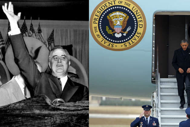Franklin D. Roosevelt – The FDR administration had plenty of technological enhancements. Roosevelt was  the first president to use a plane – a Boeing 314 – on official U.S. business.  He took the plane, dubbed the Dixie Clipper, to meet Winston Churchill in North  Africa in 1943. FDR also was the first president to use television extensively.   
