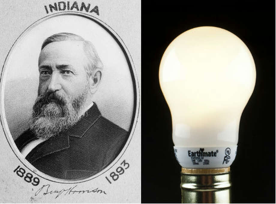 Benjamin Harrison –Electric lighting was first installed in 1891 during the middle of  Harrison's presidency. Since the technology was new, Harrison was a bit wary of  it. He reportedly refused to touch the switches.Source: Whitehousehistory.org