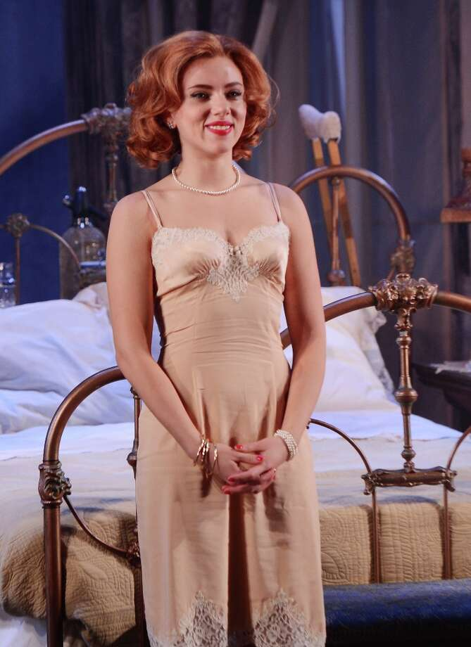 Actress Scarlett Johansson attends the curtain call for the Cat On A Hot Tin Roof opening night at Richard Rodgers Theatre on January 17, 2013 in New York City. Photo: Stephen Lovekin, Getty Images / 2013 Getty Images
