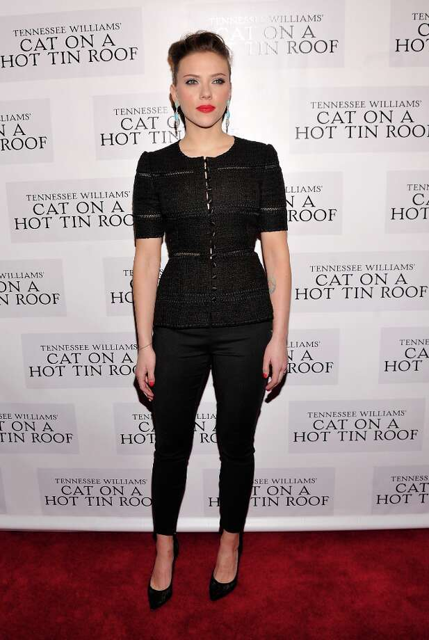 Actress Scarlett Johansson attends the Cat On A Hot Tin Roof Broadway opening night after party at The Lighthouse at Chelsea Piers on January 17, 2013 in New York City. Photo: Stephen Lovekin, Getty Images / 2013 Getty Images