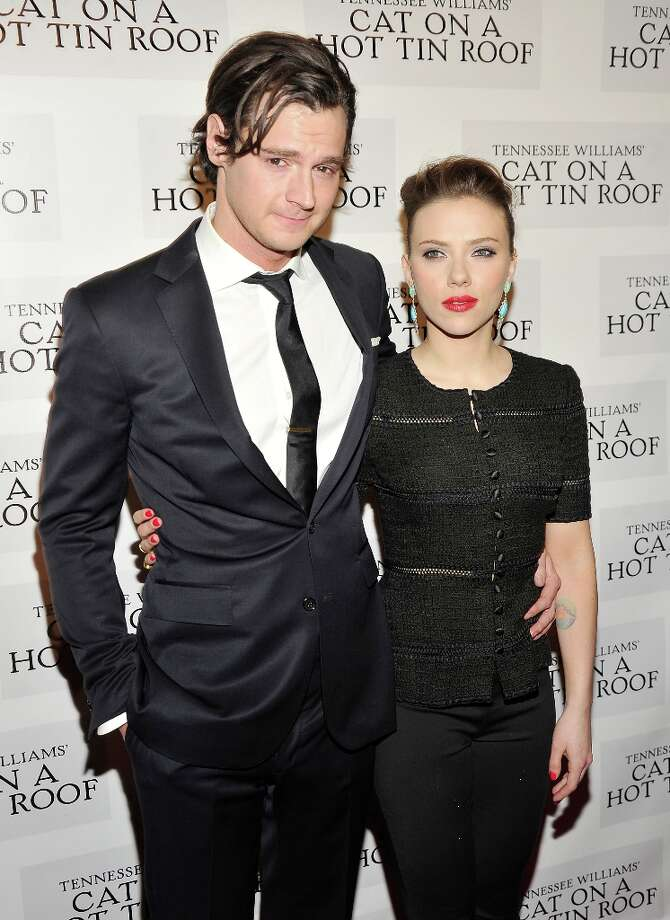 NEW YORK, NY - JANUARY 17:  Actors Benjamin Walker and Scarlett Johansson attend the Cat On A Hot Tin Roof Broadway opening night after party at The Lighthouse at Chelsea Piers on January 17, 2013 in New York City. Photo: Stephen Lovekin, Getty Images / 2013 Getty Images