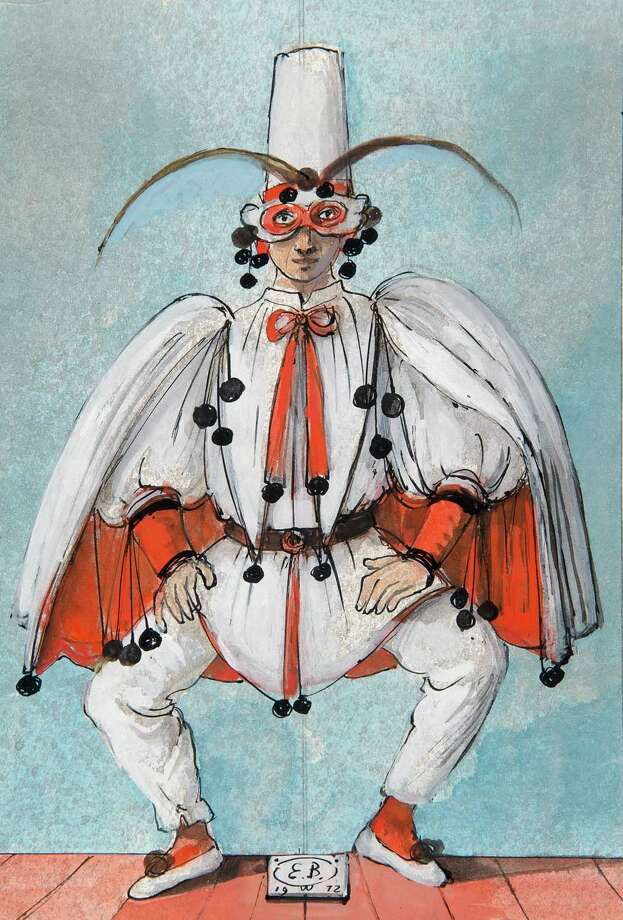 "Eugene Berman's costume design for ""Pulcinella"" is featured in the McNay Art Museum's ""Fiesta, Fete, Festival"" exhibition. Photo: McNay Art Museum"