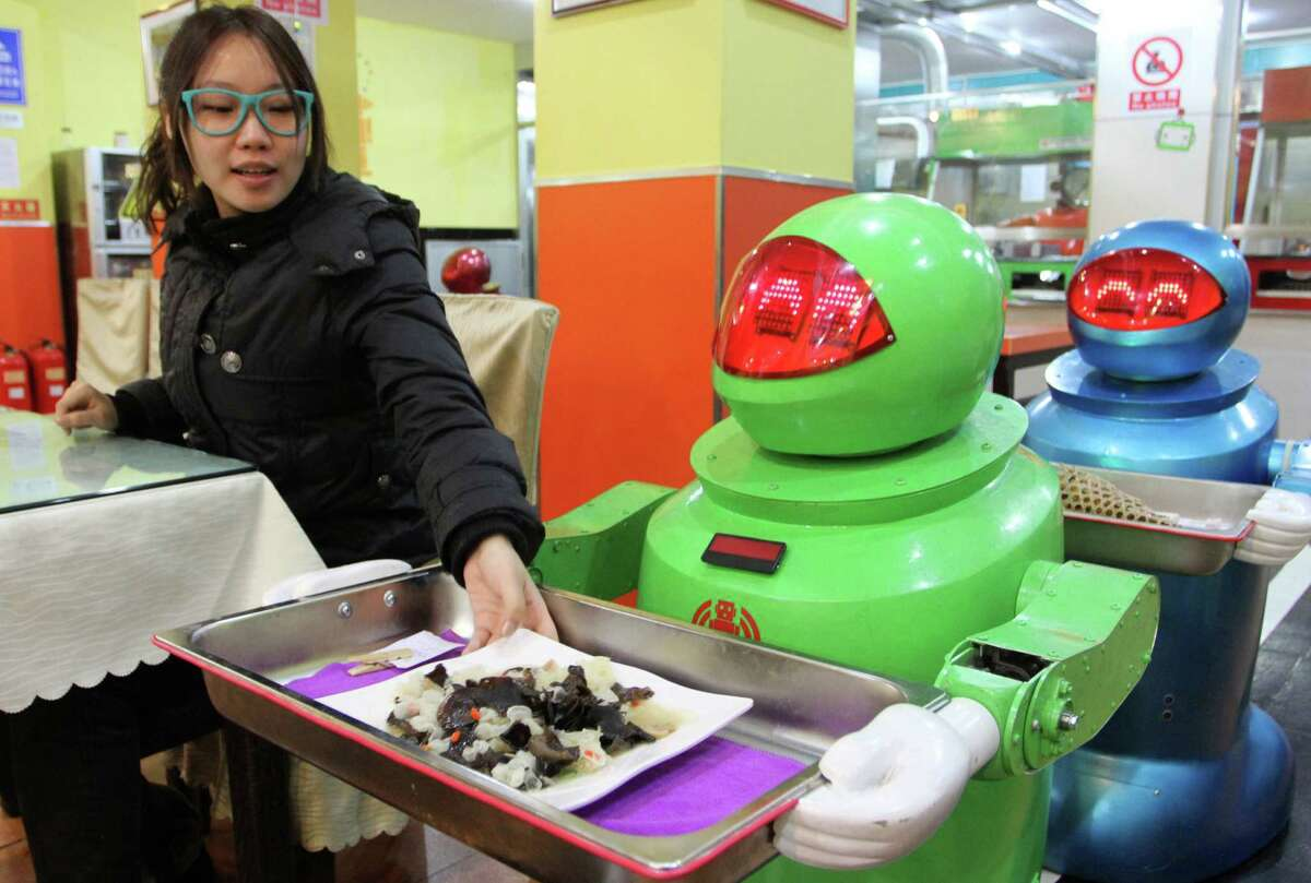 Looking for a little less humanity in your restaurant service? This eatery in Harbin, China, features a robot staff.