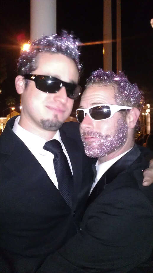 Purple glitter? Why not? Gaga's hair was pink, after all.