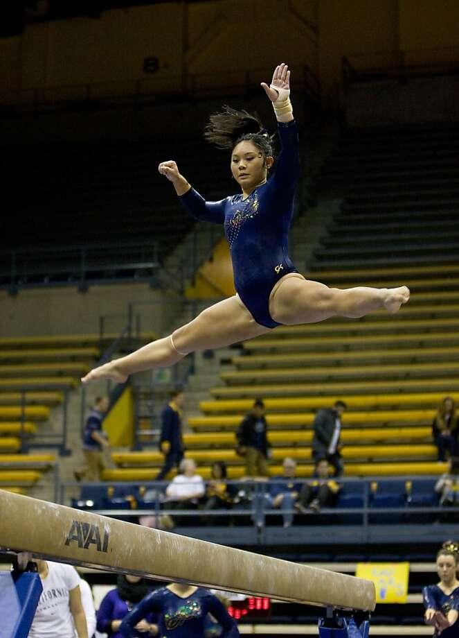 Serena Leong of the Cal women's gymnastics team. Photo: UC Berkeley