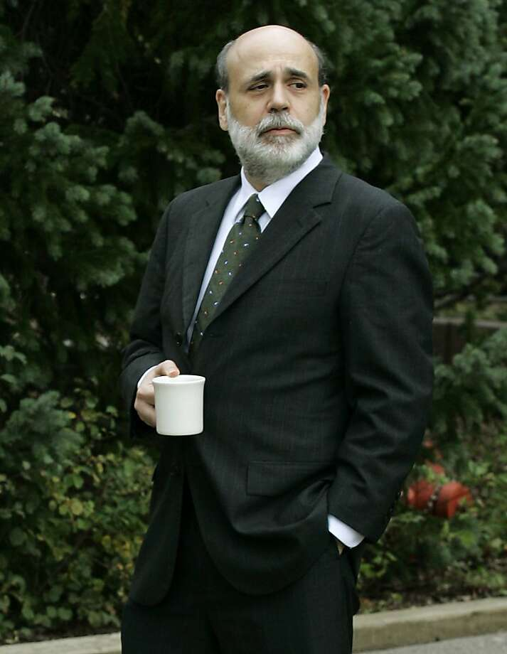 Fed Chairman Ben Bernanke believed the economy would withstand the mortgage crisis. Photo: Ted S. Warren, AP