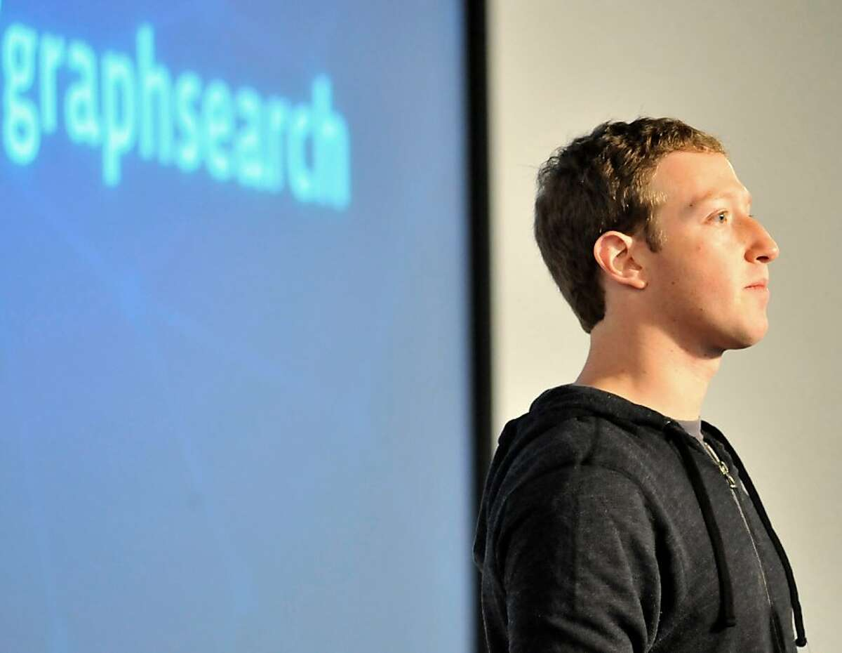 Facebook CEO Mark Zuckerberg speaks at an event at Facebook's headquarters office in Menlo Park, California, on January 15, 2012. Facebook announced the limited beta release of Graph Search, a feature that will create a new way for people to navigate connections and search social networks. AFP PHOTO./Josh EdelsonJosh Edelson/AFP/Getty Images