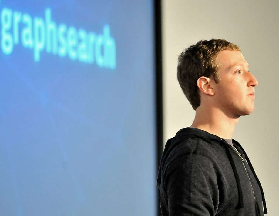 CEO Mark Zuckerberg's Facebook isn't up with Amazon, Apple, Google or Microsoft. Photo: Josh Edelson, AFP/Getty Images