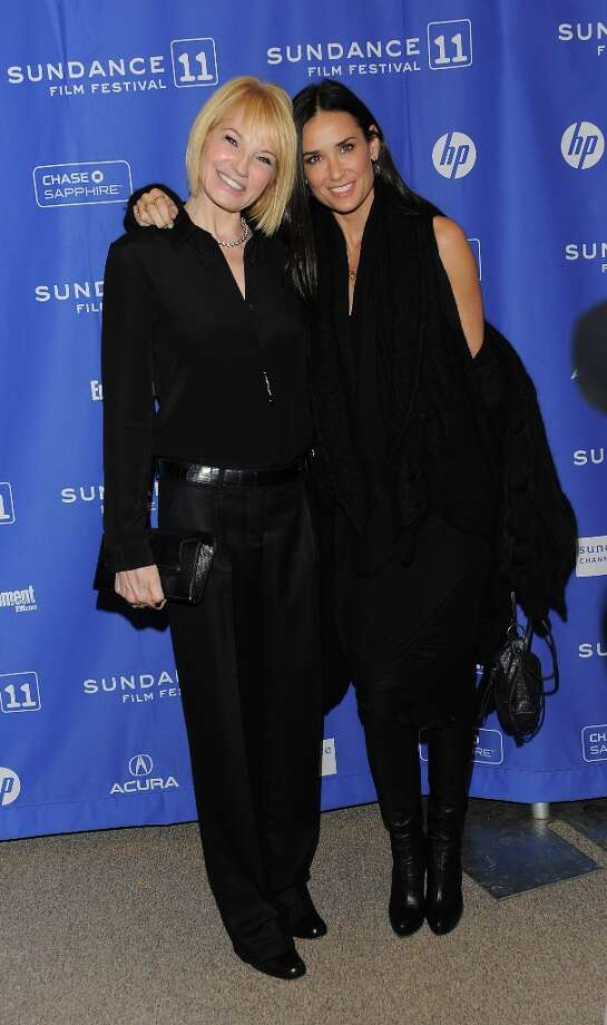 Actresses Ellen Barkin (L) and Demi Moore attend the Another Happy Day Premiere at the Eccles Center Theatre during the 2011 Sundance Film Festival on January 23, 2011 in Park City, Utah. Photo: Jemal Countess, Getty Images / 2011 Getty Images